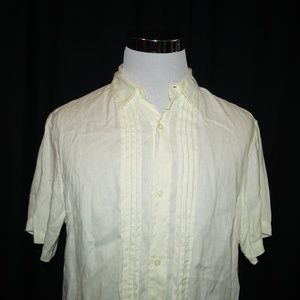 Banana Republic Button Down 100% Linen Shirt